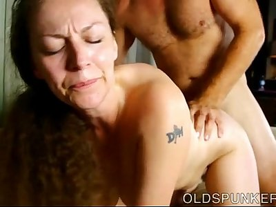 Busty mature broad enjoys a red-hot fuck and a goopy facial cumshot