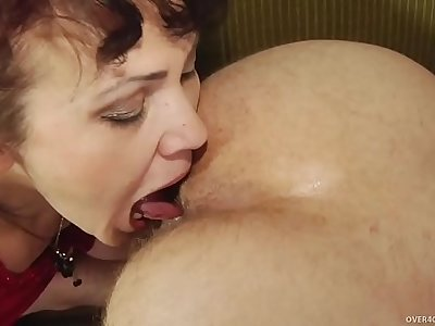 Mature lady with youthful guy