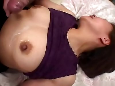 Naughty boy voyeurism at a mature woman's masturbation