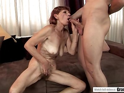 Saggy bap mature got her all natural pussy fucked hard