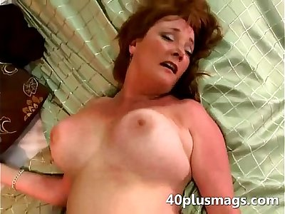 Mature with huge bumpers is cowgirl