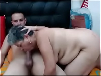Who are they? - Thick and Luxurious Mature Granny with Young Man