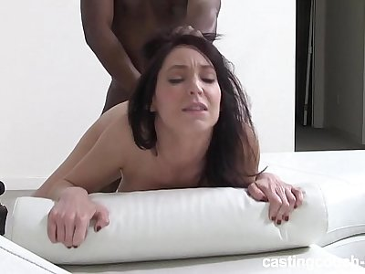 Mature reserved Brunette pounds on video - first-ever time