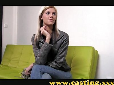 Casting - Super thin babe gets fucked hard