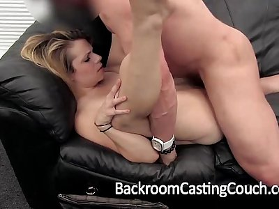 Cheater Bum-fucked and Creampie on Casting Couch