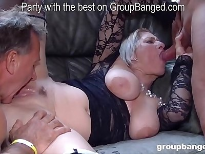 More gang-bang action with Teresa the horniest mature lady we encountered