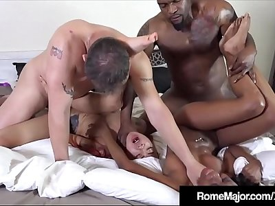 2 Tight Ebony Babes Banged By Rome Major & Tommy Utah!