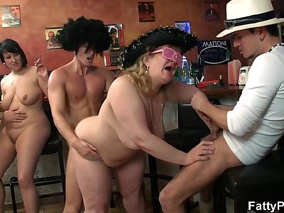 Wild bbw group orgy