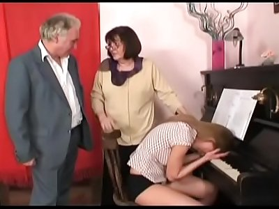 crazy granddad in a wild house orgy