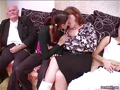 Group sex with grandmas