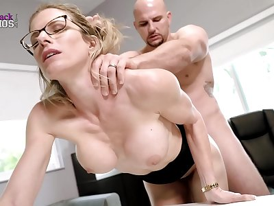 Super-hot Blonde Milf with Massive Tits Must Fuck Her Boss to Keep her Job - Cory Haunt
