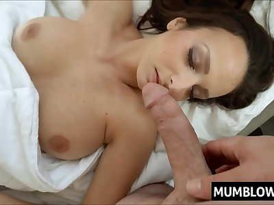 Son wakes up Mom with cock