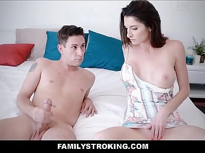 Hot Big Boobies MILF Step Mom Fucks Masturbating Son