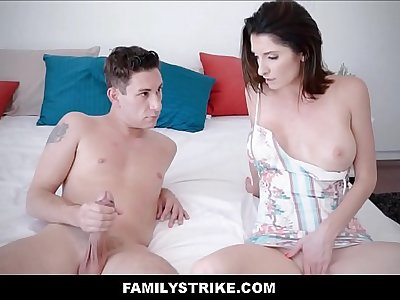Steamy MILF Stepmom With Big Tits Loves Her Son's Big Cock