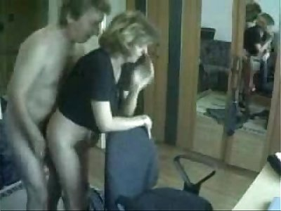 Mommy and dad caught having fun by spycam