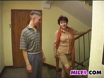 Elder Mommy In A Threesome With Two Youthful Guys