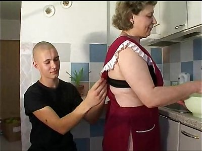 Mature Mom with young guy