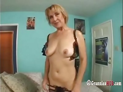Gorgeous GILF Blonde In Cool Lingerie Anal Fuck