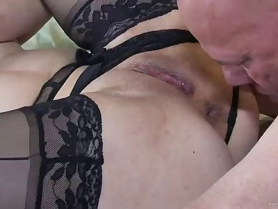 horny redhead milf getting her cunt fucked hard after footjob